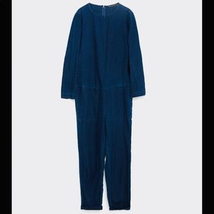 Zara modern lightweight denim jumpsuit XS